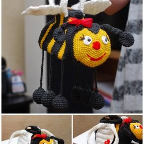 Сумка пчелка крючком