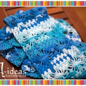 Осенний ажурный шарф крючком