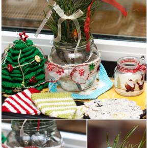новогодний горшочек для еловой ветки