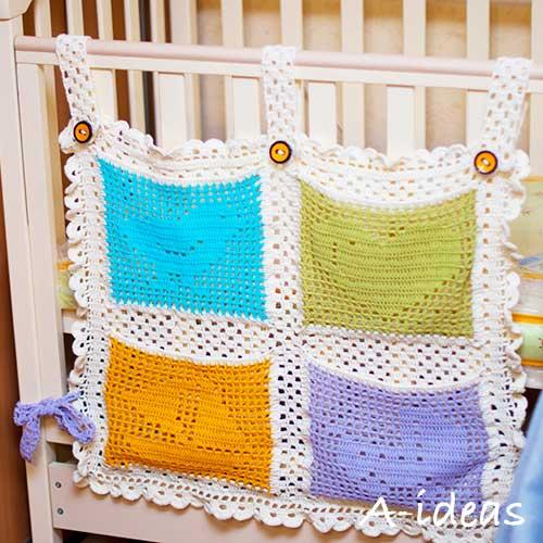 Кармашки для детской кроватки [схема]