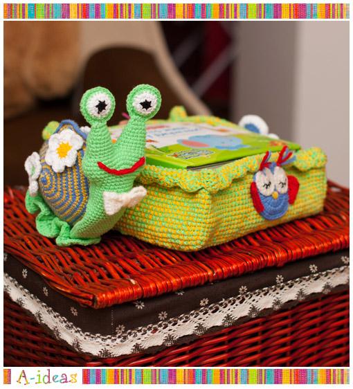 детская корзинка для книг