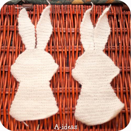 первый урок - вязание кролика крючком