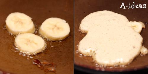 оладьи на дрожжах с бананом