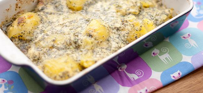 Картофель в чесночном масле