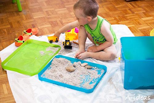 Кинетический песок своими руками (рецепт)