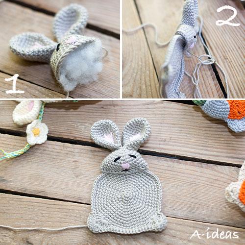 Как связать пасхального кролика крючком (МК)